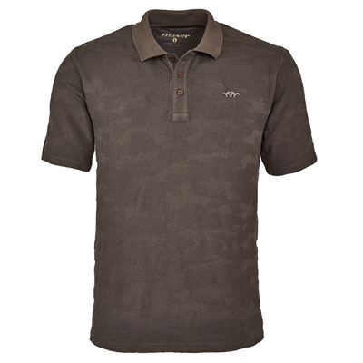 Blaser Men's Jacquard Polo - Brown